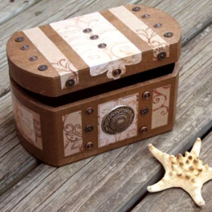 This decorative box is perfect to stash party favors, gold foil-wrapped chocolate coins, or other pirate-themed trinkets in.