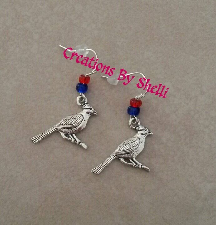 A personal favorite from my Etsy shop https://www.etsy.com/listing/251340541/st-louis-cardinals-charm-earrings