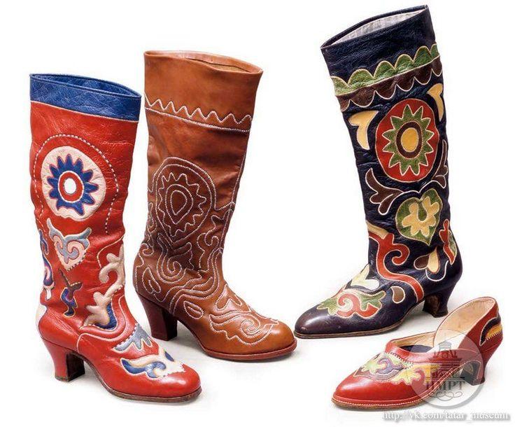 Татарская обувь, ичиги, читек, сапоги