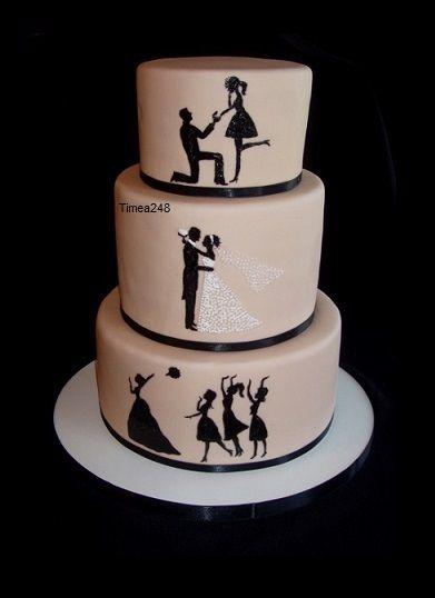 Siluety na torte