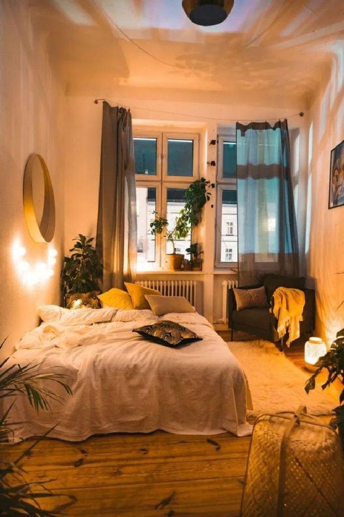 45 Affordable Diy Fairy Light For Minimalist Bedroom Decoration Lighting Some Ideas For The Own Bedroom In 2020 Aesthetic Bedroom Room Interior Bedroom Inspirations