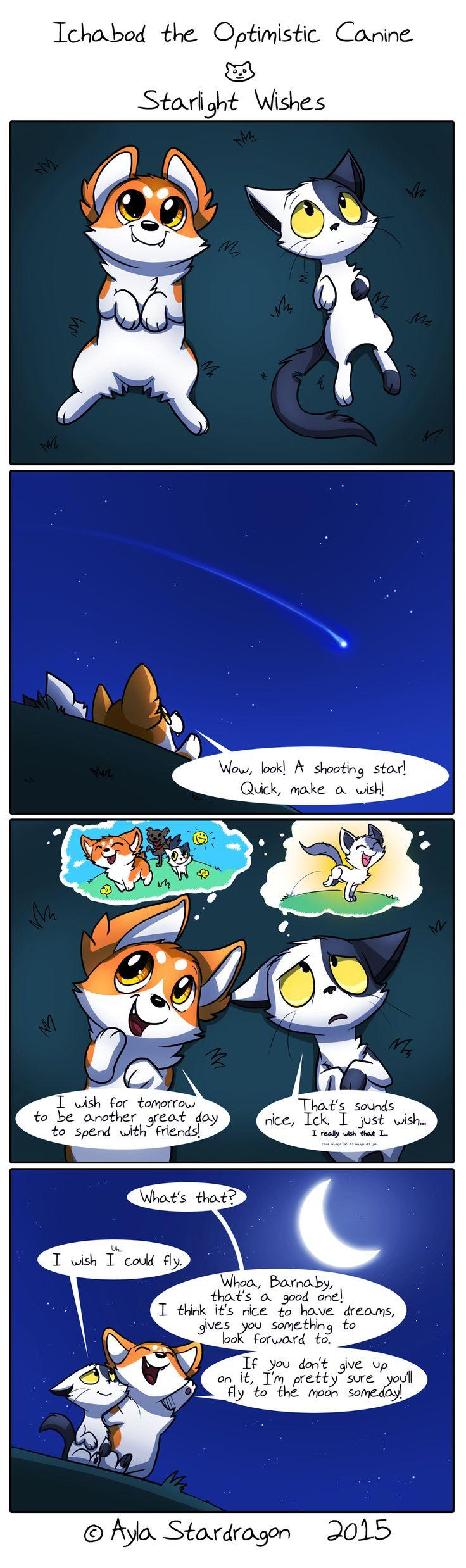 Ichabod the Optimistic Canine :: Starlight Wishes   Tapastic Comics - image 1