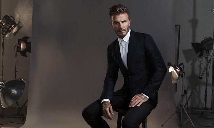 Always good looking David Beckham in a blazer. H&M.