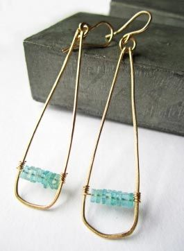 Stack Earrings Apatite | Whitley Designs