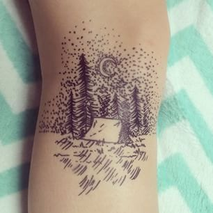Camping-Themed | The 28 Kinds Of Tattoos Hipsters Just Love. Kinda funny but some are true haha