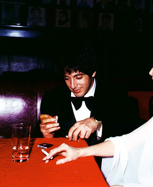 Al Pacino at the 28th Annual Tony Awards, photo by Ron Galella, April 21st 1974..