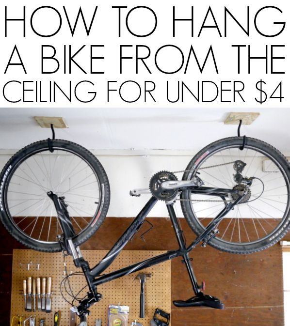 How To Hang A Bike From The Ceiling | Organizations, Ceilings And Garage  Organization
