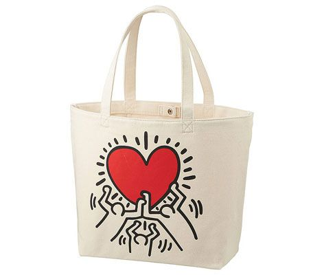 Uniqlo x MoMA Keith Haring and Jean-Michel Basquiat tote bags