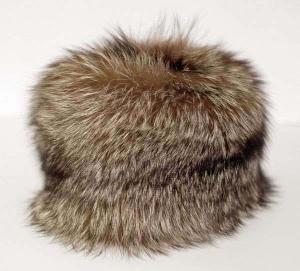 Wild Silver Fox Fur Winter Hat. This is a one off, handcrafted hat from the fur of wild Silver Fox, sourced from the medieval forests of Europe.