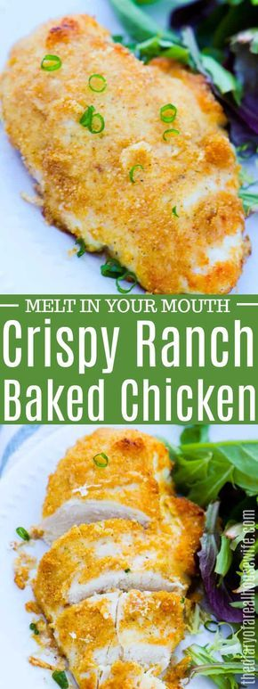 OHMYGOSH this is amazing. Plus it is so easy to make. Crispy Ranch Baked Chicken…