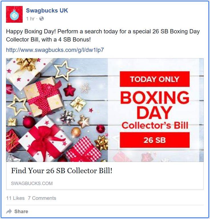 #SwagBucks New #CollectorsBill #Ireland #UnitedKingdom. Collect special 26 swagbucks bill earn 4 SB #bonus. https://facebook.com/SwagbucksUK/posts/1586665441350397 #ezswag #goodluck #havefun #savemoney #makemoney #gpt #getpaidto #giftcards #stayathomemoms #stayathomedads #workfromhome