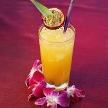 En läcker tropisk drink med passionsfrukt. Slurp!