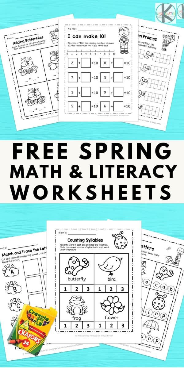 Free Spring Worksheets For Kindergarten Age Kids To Have Fun While