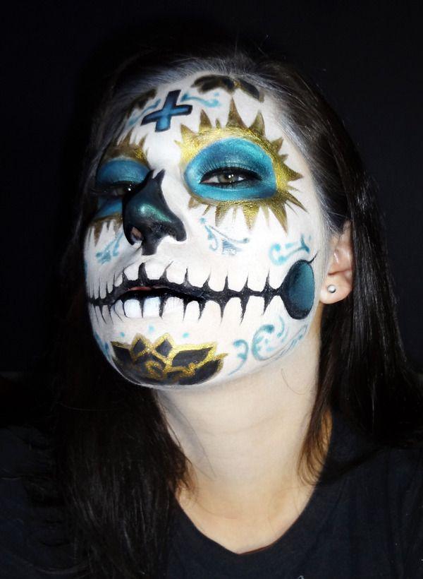 """""""La Virgen"""" Dia de Los Muertos makeup"""