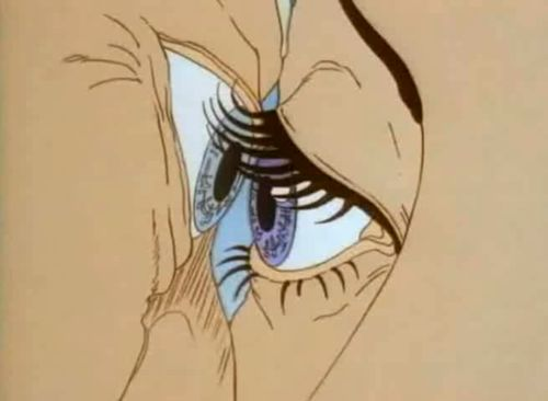 Aeon Flux eye kiss