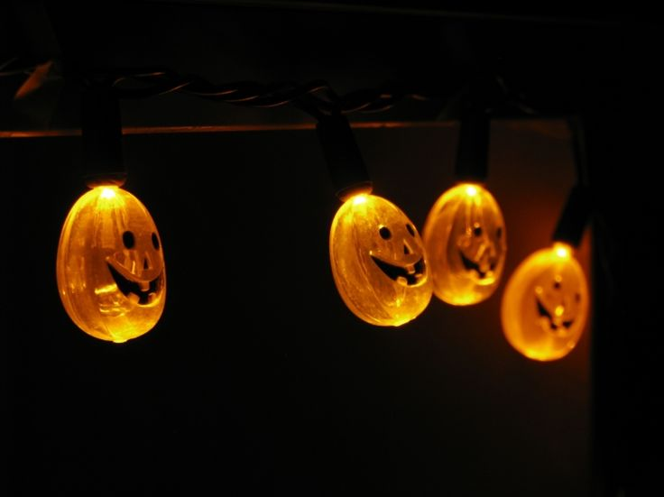 Halloween LED lights are a common, energy efficient decoration.   Photo courtesy of Jeremy Roof, Creative Commons.