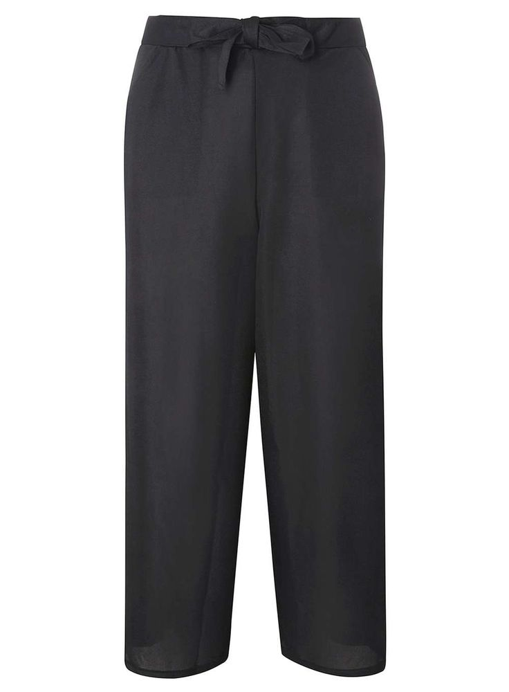Dorothy Perkins Womens **Tall Black Tie Waist Culottes- Black Tall black tie waist culotte trouser. Length: 68cm. 100% Polyester. Machine washable. http://www.MightGet.com/january-2017-13/dorothy-perkins-womens-tall-black-tie-waist-culottes-black.asp