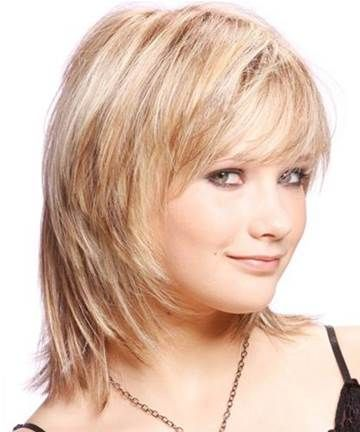 Image result for Medium Hairstyles for Women Over 40 with Fine Hair and round face