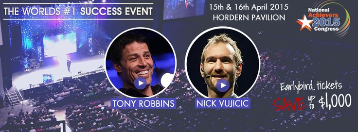 This is your last chance to secure tickets to see Tony Robbins and Nick Vujicic LIVE at the National Achievers Congress this Wednesday and Thursday.  Avoid FOMO (fear of missing out) and get your last-minute tickets here: http://bit.ly/nac_pin