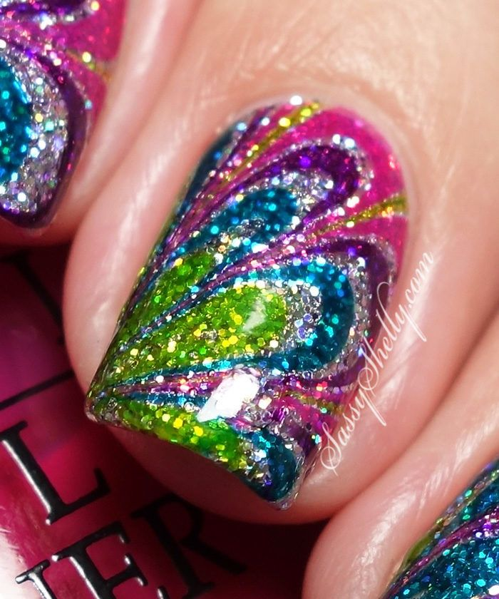 Fashion Inspired Nails ~ Tie Dye - No Mess Watermarble Tutorial - Best 25+ Tie Dye Nails Ideas On Pinterest Hippie Nail Art, Funky