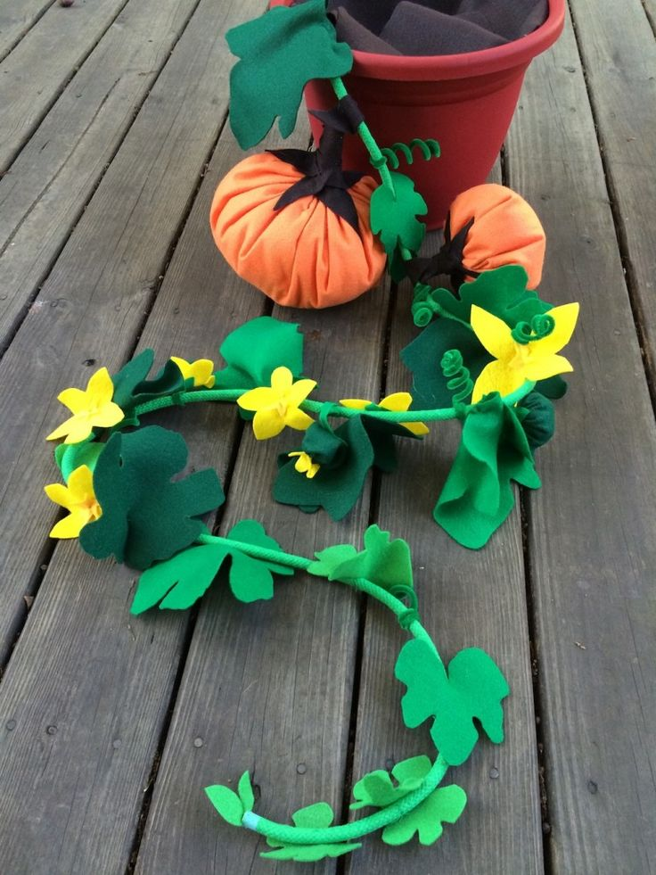 Mystery Vine prop for Pumpkins and Compost Storytime: Tool for teaching the life cycle of pumpkins.