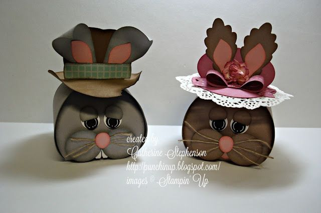 Punchin' Up! by Cathy: Easter Bunny Curvy Keepsake Box