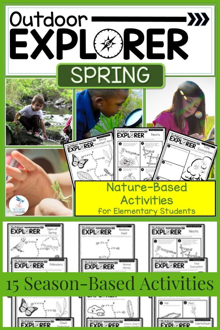 Outdoor Explorer Spring Science And Nature Activities Elementary Science Activities Nature Activities Science And Nature