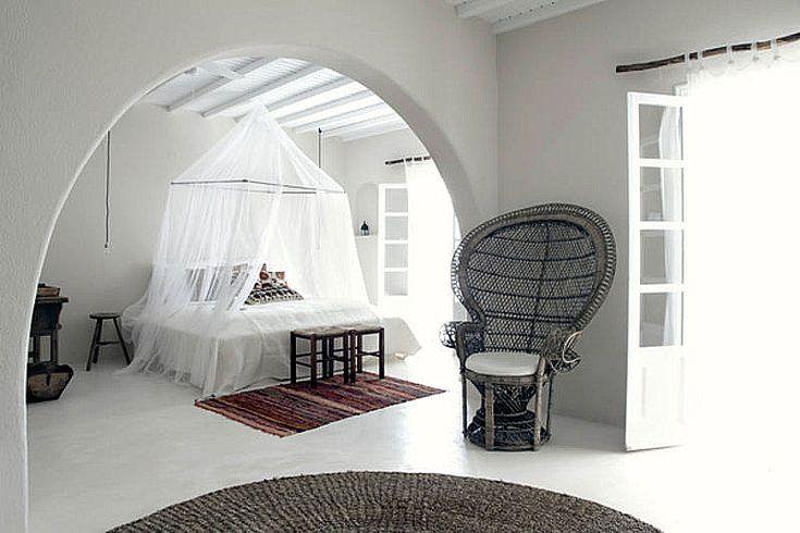 Designhotell på Mykonos med vacker bohemisk inredning