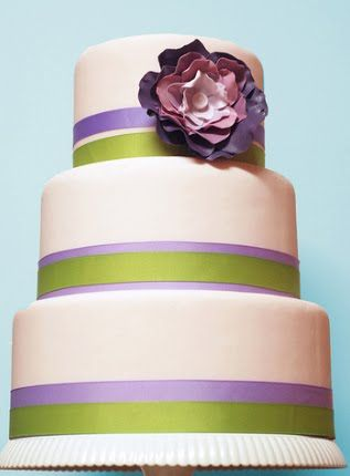 lime and turquoise wedding ideas | source wedding cake 3 three tier white wedding cake with