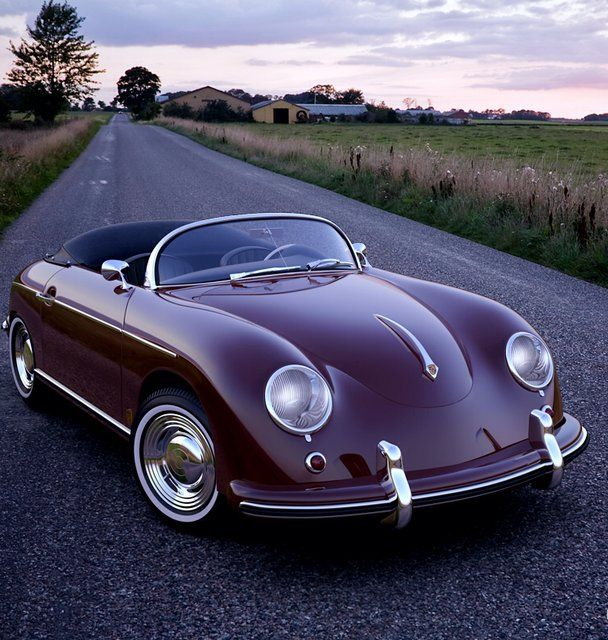 Fancy - Porsche 356 Speedster; don't know what I love more about this... oh yea the purple..