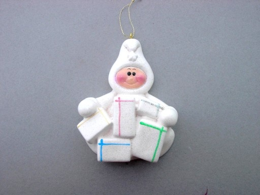 Baby with gifts Ornament