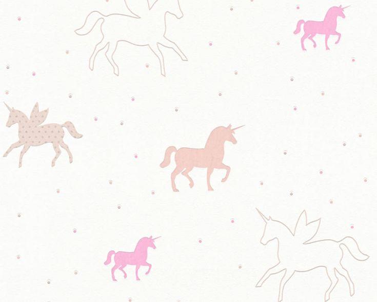 Dětské tapety Esprit 5, Jednorožec Unicorn růžová www.e-color.cz