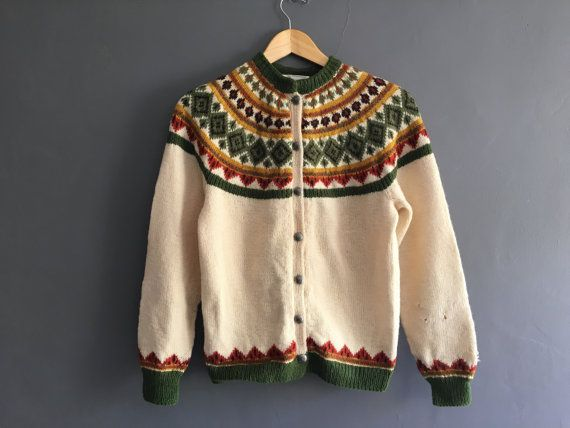 1950s Norweigan Hand Knitted Fair Isle by VioletsAtticVintage