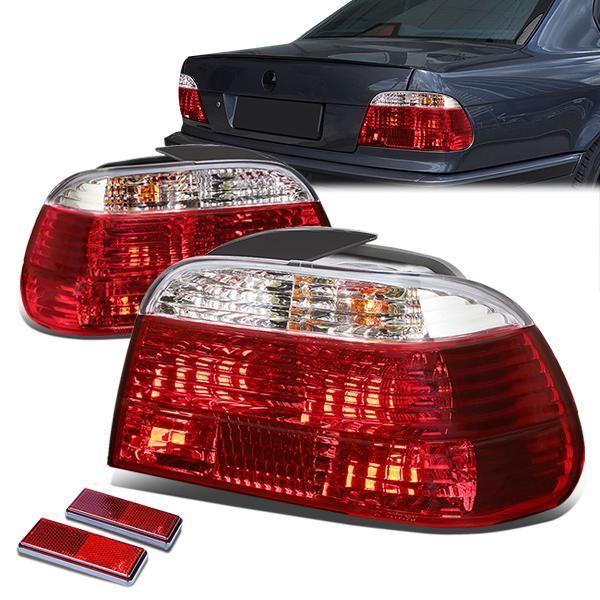 95 01 Bmw E38 750il 740il 740i Rear Brake Tail Lights Red Clear Lens Tail Light Bmw Bmw E38