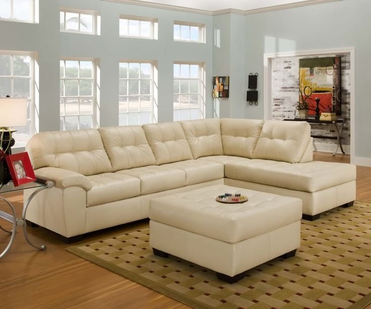 Small cream leather sectional sleeper sofa with chaise  Beige SectionalLeather  Sectional SofasLiving Room  Best 25  Leather sectional sofas ideas on Pinterest   Leather  . Living Room Sectional Furniture. Home Design Ideas