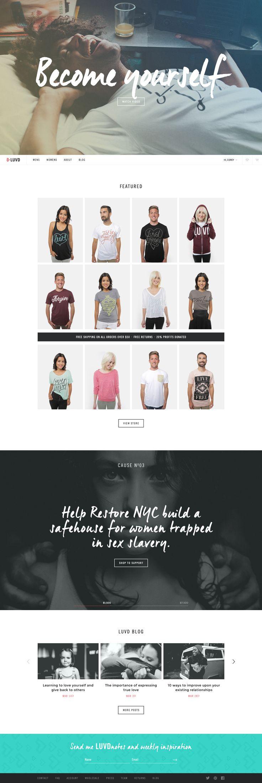 Simple Tasteful Clothing Site Design