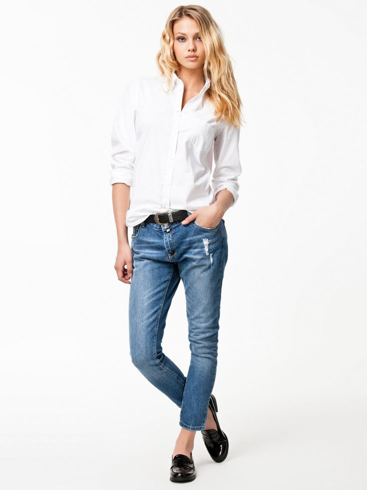 Classic Oxford Shirt - Morris - White - Blouses & Shirts - Clothing - Women - Nelly.com
