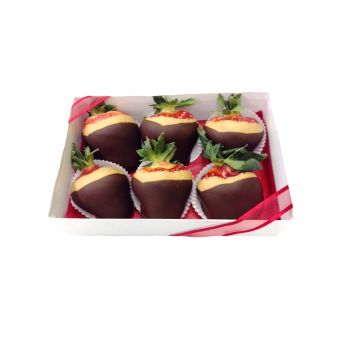 #bowmanvilleflowers #valentinesday #giftideas #love #chocolatecoveredstrawberries  Nutty Butter Berries - 6 Box | Bowmanville, Courtice, Newcastle, Oshawa, Whitby Flower Delivery
