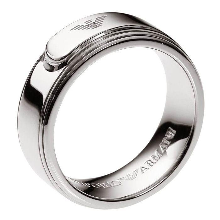 Emporio Armani Mens Ring Silver 925 EG2966040