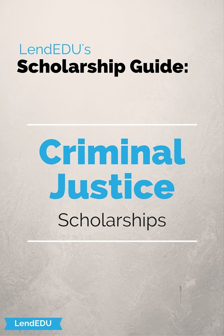 scholarship adult criminal justice