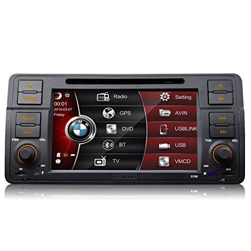 Eonon D5150vu Special for BMW 3 Series E46 M3 1998-2005 7 Car DVD Player GPS SAT NAV Radio Stereo Bluetooth Touch Screen (Us-canada Map Included) Support Screen Mirroring for Android Smartphone
