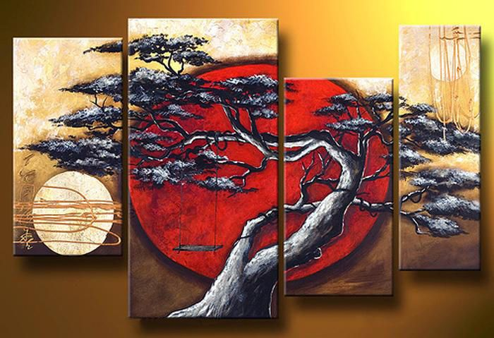Multi Panel Art Oil Painting on Canvas Ready to Hang (Stretched/Framed)