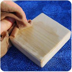 Natural wood finish beeswax recipes and painting instructions for finishing wooden toys.  Learn how to decorate, protect and seal your homemade wooden toys naturally with non-toxic and organic