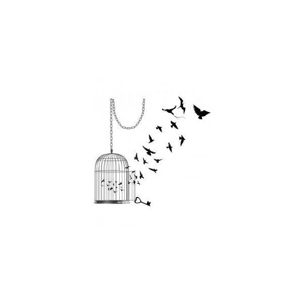INKWEAR Bird Cage Tattoo ($4.10) ❤ liked on Polyvore
