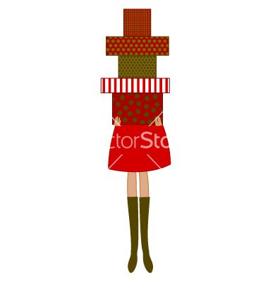 Free Vector | Woman holding christmas presents vector 625990 - by dolcevita on VectorStock�