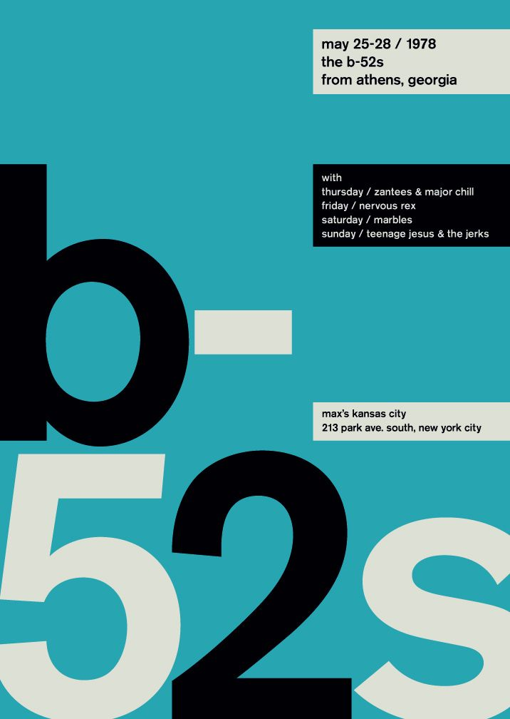 Swissted B-52s Poster