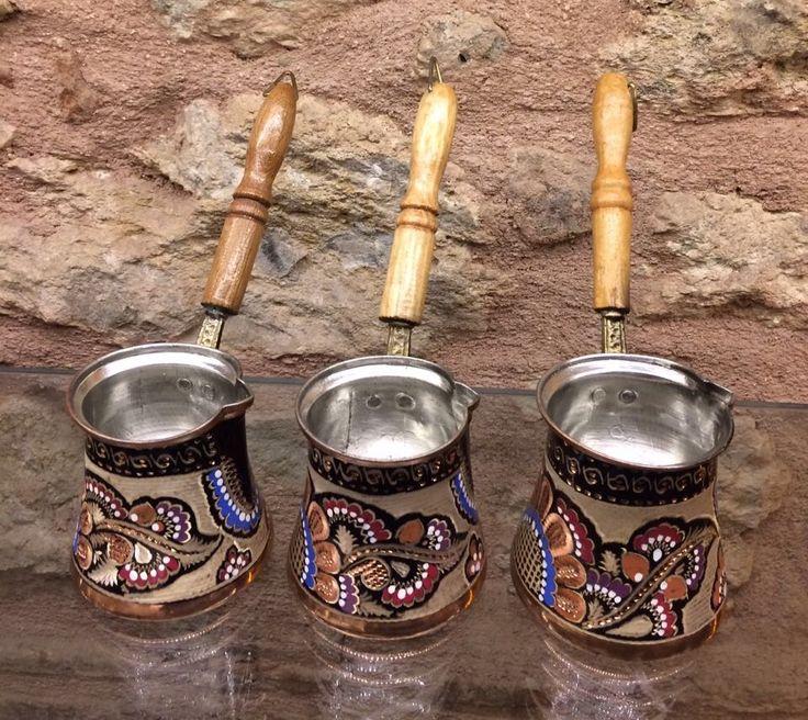 TURKISH COFFEE POT SET OF THREE