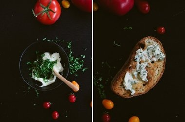 Tomato Toast with Basil Butter | Foodie Favs | Pinterest