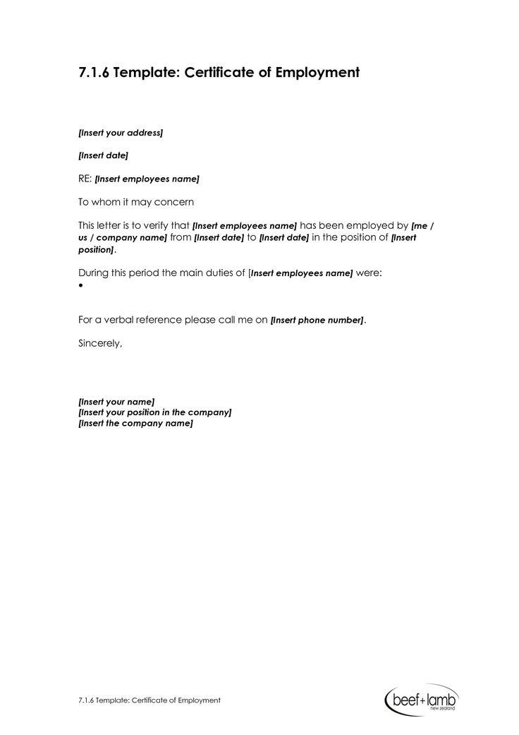 certificate templates salary employment sample best pinterest