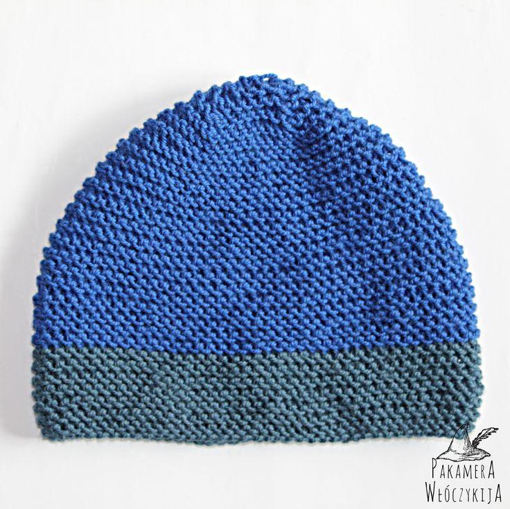 Handmade! Ręcznie robiona czapka w intensywnym, chabrowym kolorze!  http://pakamera.wix.com/pakamera-wloczykija#!chabrowa/c1ked